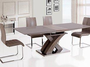 Мик комплект: стол обеденный ET-1611 (MK-4316-CP) 180/220х90 + 4 стула DC-69  (MK-4313-CP) капучино