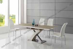 ЕСФ столовая комплект: стол обеденный 140/180х85 HT2122 + стулья DC365 4 шт.