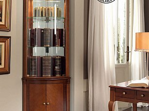 Панамар (Panamar) витрина угловая 809.001 + буфет (основание под витрину) 839.000 орех/вишня