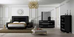 Воларе спальня черная