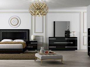 Воларе спальня черная глянец