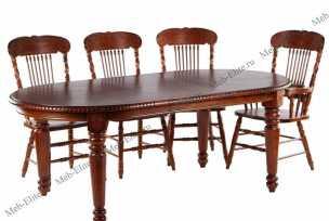 Мик столовая комплект: стол обеденный 163/204х107 MK-1103-HG + 4 стула MK-1119-HG + 2 стула с подлокотниками MK-1118-HG