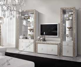 Тиффани Премиум гостиная штрих-серебро глянец