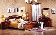 Нотти спальня комплект: кровать 160х200 + 2 тумбы прикроватные + туалетный стол с зеркалом + банкетка + 5 дверный шкаф