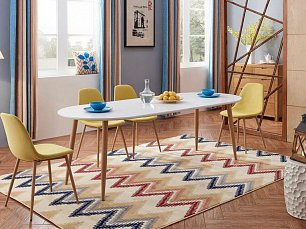 ЕСФ столовая комплект: стол обеденный 160/220х90 DT-95 + стулья DC350 4 шт. глянец