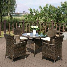 Комплект мебели 4+1 AFM-410RD90 4Pcs иск. ротанг