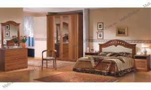 Европа 7 спальня орех глянец
