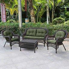 Комплект мебели 2+1+1 LV520BG иск. ротанг