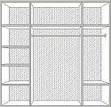 Катя спальня комплект: кровать 180х200+2 тумбы прикроватные+комод с зеркалом+ 4 дверный шкаф беж