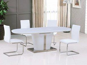 Мик комплект: стол обеденный DT-44 (MK-4314-WT) 180/220х90 + 4 стула DC-18  (MK-4304-WT)