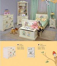 Алиса шкаф-стеллаж 2 двери детский