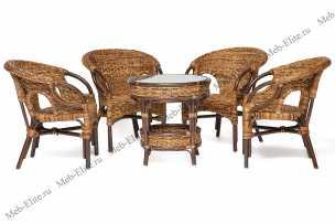 Мандалино комплект: столик + 4 кресла