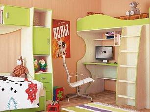 Комби МН-211 спальня комплект:1-дверный шкаф (МН-211-15) + кровать (МН-211-01) + комод (МН-211-24) + стол (МН-211-05)
