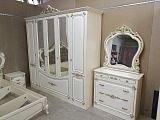 Магдалена СТ спальня комплект: кровать 180х200+2 тумбы прикроватные+комод+шкаф 5 дверный