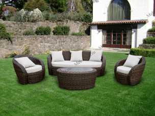 Ротанг Авела комплект:диван 3 местный+стол кофейный+2 кресла