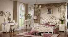 Лоренцо спальня комплект:кровать 1,6+ тумба прикроватная 2ш+комод с зеркалом+ шкаф 3дверный с зеркалом без пуфа
