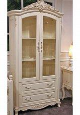 Белый Цветок шкаф книжный 2 дверный