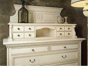 Набукко панель декоративная для комода спальни (белая)