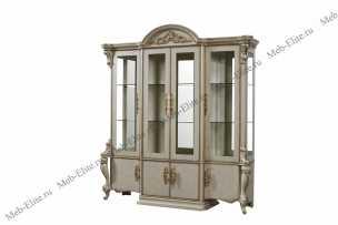 Опера Крема витрина 4 дверная глянец