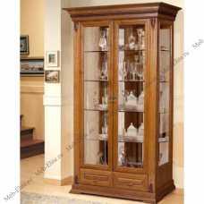 Витовт витрина 2-дверная орех