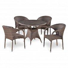Комплект мебели 4+1 T220BG/Y290BG-W1289 Pale 4Pcs иск. ротанг
