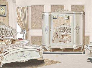 Наполеон 3888W спальня комплект:кровать 180+2 тумбы+туал.стол+шкаф 4дверный