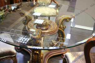 Александрия (карпентер 228) стол обеденный (стекло) 160х160 круглый
