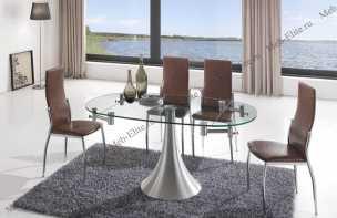 ЕСФ столовая комплект: стол обеденный 100/160х76 Т017 + стулья 2368 А7 4 шт.