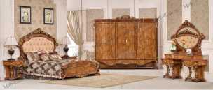 Наполеон 3888D спальня комплект:кровать 180+2тумбы+туал.стол+шкаф 6дверный