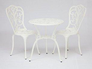 Жардин комплект Романс: стол + 2 стула белый