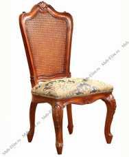 Луи 15 (Louis XV) стул с ротангом 721 орех