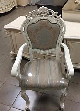 Классика стул с подлокотниками 8058 белый, выставочный образец