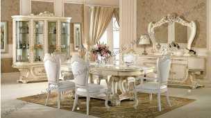 Принцесса 3829 столовая комплект: стол обед.+ витрина+ 8 стульев+комод