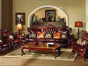 Генрих мягкая мебель 4+2+1 кожа