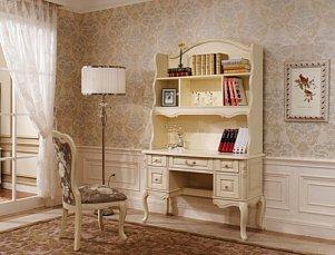Белый Цветок стол письменный с надставкой 8802