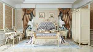 Белый Цветок кровать 180х200 9908-B