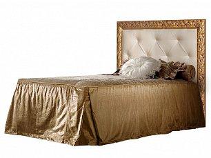 Тиффани кровать 120х200 с мягким элементом со стразами штрих-золото