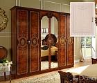 Рим  шкаф 6 дверный с зеркалом бежевый