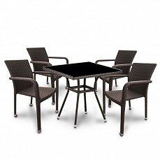 Комплект мебели  4+1 T283ВNS-W51/A2001B-W53-4PCS иск. ротанг