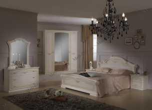 Ирина спальня комплект: кровать 160 + 2 тумбы + комод + 4 дв шкаф беж