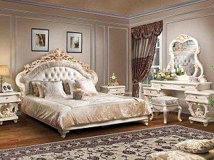Офелия спальня комплект: кровать+2 тумбы прикроватные+шкаф 5 дверный+стол туалетный с/з