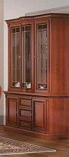 Венеция витрина 3 дверная фасад витраж (орех)