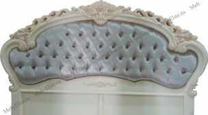 Белый Цветок кровать 160х200  8801-С ткань 8835 с пуговицами