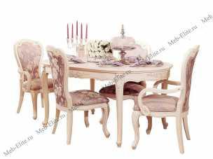 Милано стол обеденный овальный 160х100