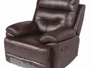 Мик кресло реклайнер MK-4705-BRL кожа