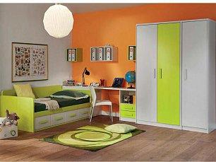 Данза детская 12: кровать +шкаф 2дверный+ шкаф 1дверный+тумба+стол письменный