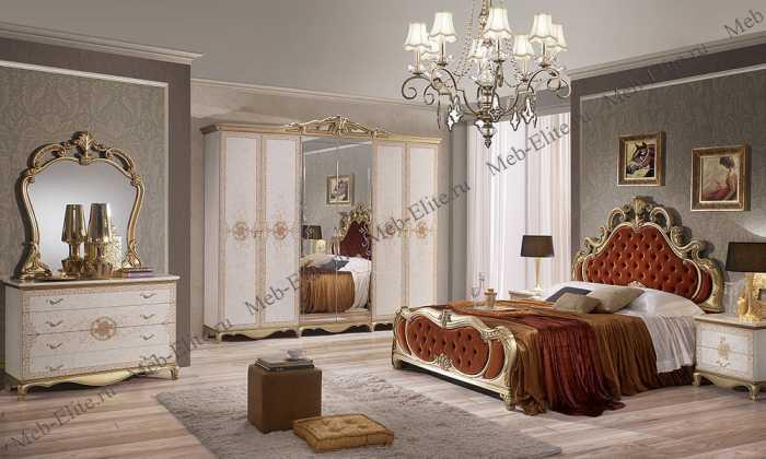 Алехандра спальня (бежевый)