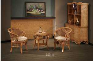 Мик ротанг комплект MK-3461: чайный столик 60х60 + 2 кресла