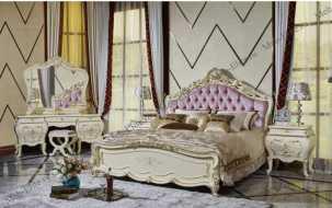 Милана спальня комплект: кровать 180х200 + 2 тумбы прикроватные + туалетный стол с зеркалом + шкаф 5 дверный + пуф