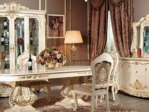 Монреаль столовая комплект: витрина 4 дверная + буфет с зеркалом + стол обеденный 240х120 + 6 стульев